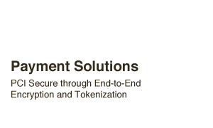 Payment Solutions - Highest security through end-to-end encryption and tokenization